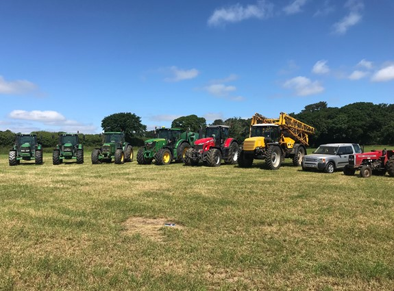 Major Dispersal Sale of 7 Tractors, Self -Propelled Sprayer, Telehandler, Arable, Grassland and Dairy Equipment