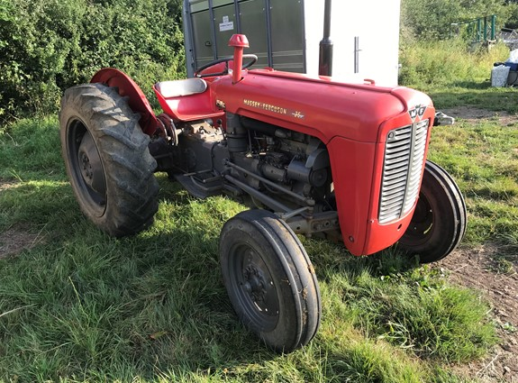 Dispersal Sale of Ford 550 Digger, Massey Ferguson 35 Tractor, Trailers, Power Tools, etc