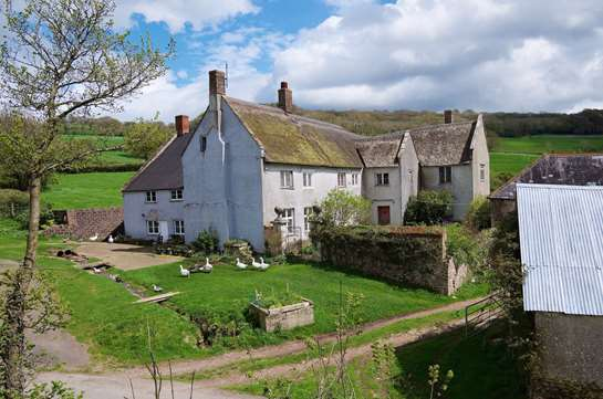 Wonderful Period farmhouse with 117 acres for Restoration.
